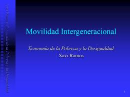 Movilidad Intergeneracional