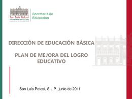 Plan de Mejora - Secretaría de Educación de Gobierno del Estado