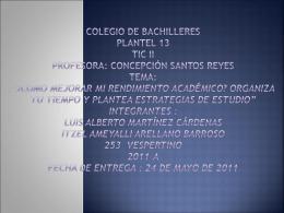 Colegio de bachilleres plantel 13 tic ii profesora - cb