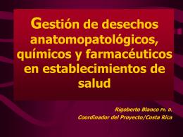 Gestión de desechos anatomopatológicos, químicos y