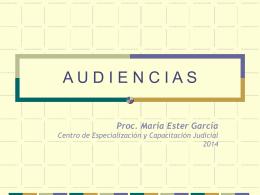 Audiencias 2014 - Poder Judicial Tucumán