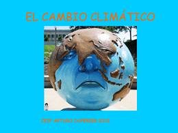 EL CAMBIO CLIMÁTICO - ceip arturo duperier