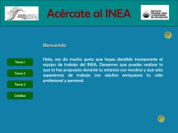 Acércate al INEA