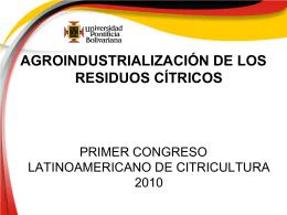 Agroindustrialización de los Residuos Citricos