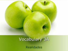 Vocabulary 3A