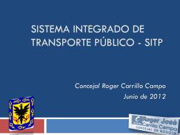 SISTEMA INTEGRADO DE TRANSPORTE - SITP