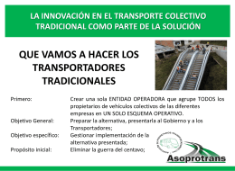 la innovación en el transporte colectivo tradicional como parte de la