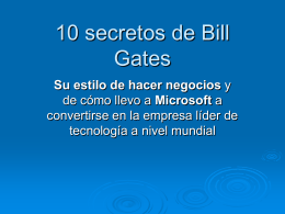 10 secretos de Bill Gates - Holismo Planetario en la Web