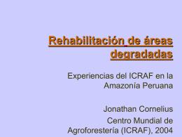 Experiencias del ICRAF en Ucayali