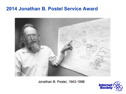 Jonathan B. Postel Service Award Criteria