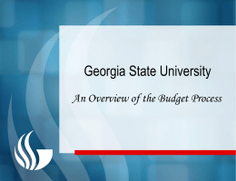 Source of Funds FY 2012 - GSU Finance & Administration