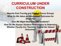 curriculum under construction - Virginia Commonwealth University