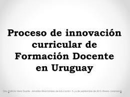 Presentación Patricia Viera. Proceso de innovación curricular