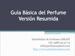 Guía Básica del Perfume