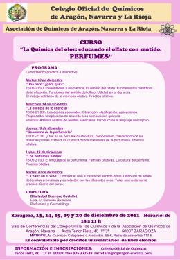 perfumes - Colegio de Químicos de Aragón y Navarra