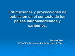 Estimaciones y proyecciones de población en el contexto de