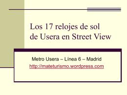 Los 17 relojes de sol de Usera en Street View