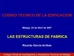 Diapositiva 1 - Colegio Oficial de Aparejadores, Arquitectos