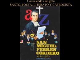 Conociendo a un gran SANTO, POETA, LITERATO Y CATEQUISTA
