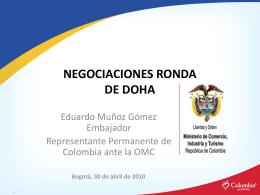 Negociaciones ronda de Doha - Universidad Sergio Arboleda