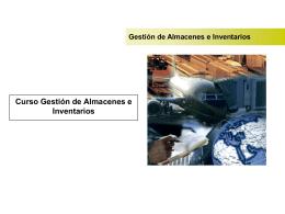 Gestión de Inventarios y Almacenes