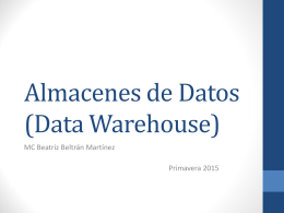 Almacenes de Datos (Data Warehouse)