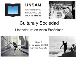 Diapositiva 1 - Cultura y Sociedad UNSAM