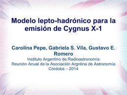 Pepe - 57 Reunion Anual de la Asociación Argentina de Astronomía