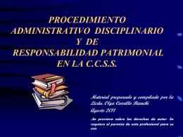 procedimiento administrativo disciplinario y/o de