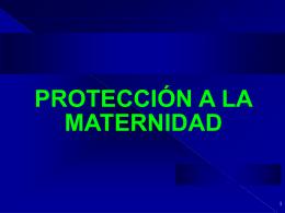 protección a la maternidad - Universidad Sergio Arboleda