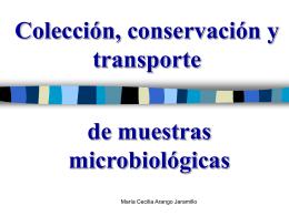 Colección, conservación y transporte de muestras