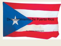 Descubrimiento de Puerto rico