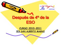 Después de 4º de la ESO - Orientación Educativa de Huesca
