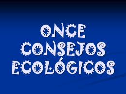 DIEZ CONSEJOS ECOLÓGICOS