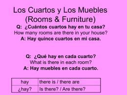 Los Cuartos y Los Muebles