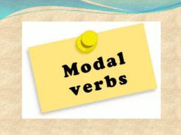 VERBOS MODALES
