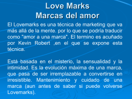 tecnica de love marks