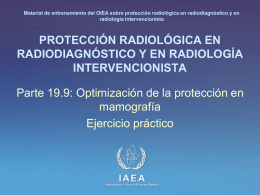 19. Optimización de la protección en mamografía: Parte 9