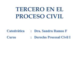 Descargar Tercero en el Proceso Civil