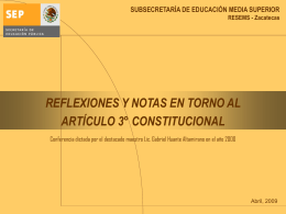 reflexiones y notas en torno al artículo tercero constitucional