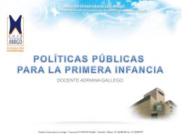 POLITICAS PUBLICAS PARA LA PRIMERA INFANCIA