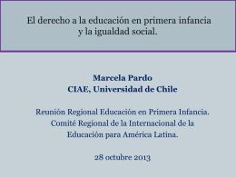 El derecho a la educación en primera infancia y la igualdad social