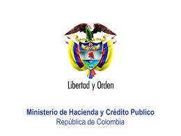Ministerio de Hacienda y Crédito Publico República