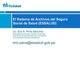 SISTEMA DE ARCHIVOS INSTITUCIONAL