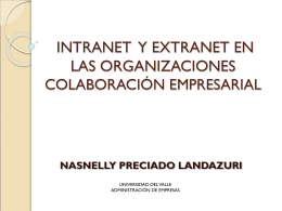 intranet y extranet intranet y extranet en las