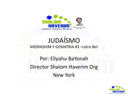Slide 1 - Shalom Haverim Org
