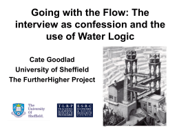 Going with the Flow - University of Sheffield