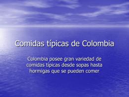 Comidas típicas de Colombia
