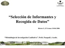 6. Informantes y datos