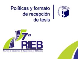 4 Políticas y Formato de recepción de tesis